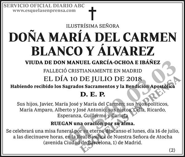 María del Carmen Blanco y Álvarez